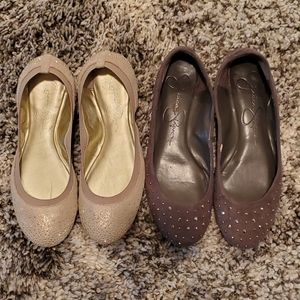 2 Pairs of sz 7.5 Jessica Simpson Flats